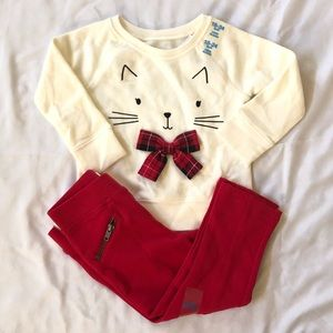 Cat sweaters with matching leggings